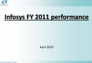 Infosys FY 2011 performance April 2010