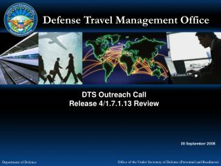 DTS Outreach Call Release 4/1.7.1.13 Review