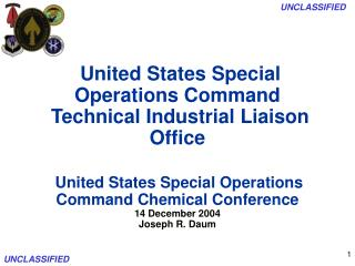 United States Special Operations Command  Technical Industrial Liaison Office    United States Special Operations Comman