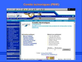 Comit  lectroniques P01E