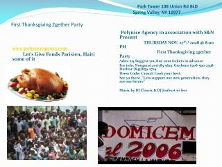 polyniceagency Let's Give  Fonds Parisien , Haiti some of  it