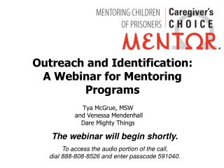 Outreach and Identification:  A Webinar for Mentoring Programs