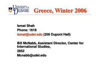 Greece, Winter 2006