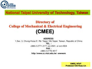 Directory of College of Mechanical & Electrical Engineering (CMEE)