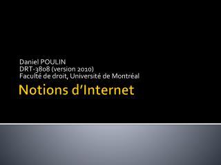 Notions d'Internet