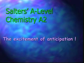 Salters' A-Level Chemistry A2