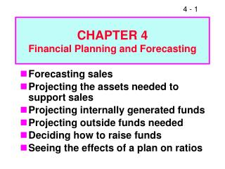 CHAPTER 4 Financial Planning and Forecasting