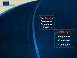 The  Seventh  Framework Programme 2007-2013