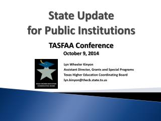 State Update for Public Institutions
