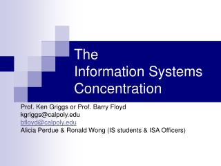 The  Information Systems Concentration