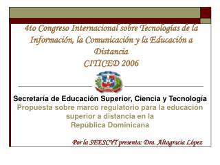 Secretaría de Educación Superior, Ciencia y Tecnología