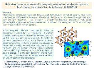 New structures in intermetallic magnets related to Heusler compounds