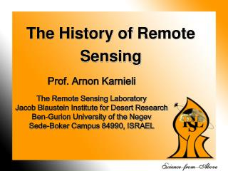 The History of Remote Sensing