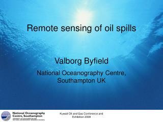 Remote sensing of oil spills