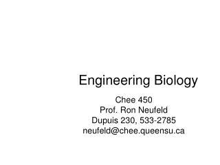 Engineering Biology