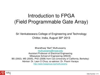 Introduction to FPGA (Field Programmable Gate Array)