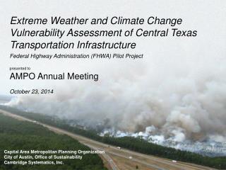 Capital Area Metropolitan Planning Organization City of Austin, Office of Sustainability