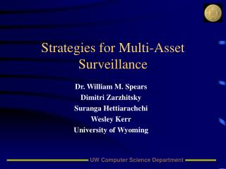 Strategies for Multi-Asset Surveillance