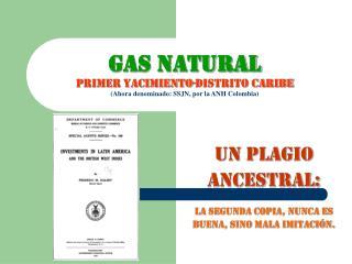 GAS NATURAL PRIMER YACIMIENTO-DISTRITO CARIBE Ahora denominado: SSJN, por la ANH Colombia