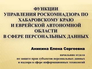 Аникина Елена Сергеевна