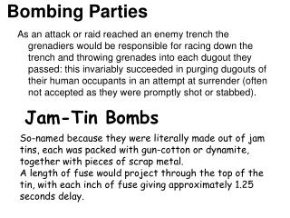 Bombing Parties