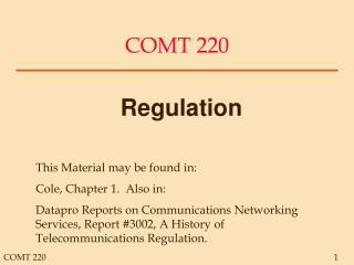 COMT 220