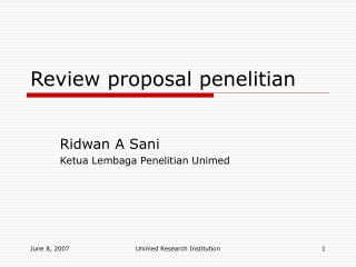 Review proposal penelitian