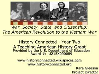 War, Society, State, and Citizenship:   The American Revolution to the Vietnam War