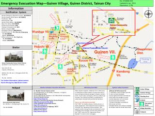 Emergency Evacuation Map—Guiren Village, Guiren District, Tainan City