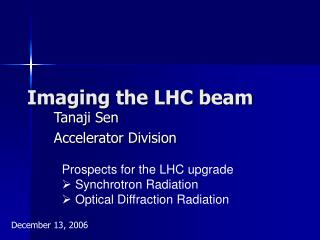 Imaging the LHC beam