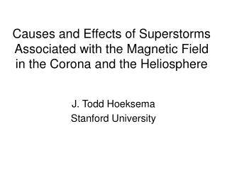 J. Todd Hoeksema Stanford University