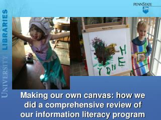Making our own canvas: how  we did  a comprehensive review of our information literacy  program
