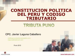 CONSTITUCION POLITICA DEL PERU Y CODIGO TRIBUTARIO