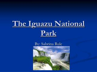 The Iguazu National Park