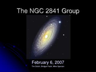 The NGC 2841 Group