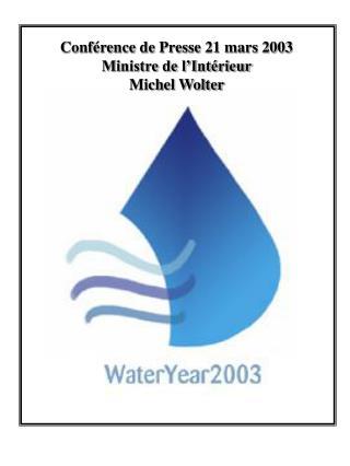 Conférence de Presse 21 mars 2003 Ministre de l'Intérieur Michel Wolter