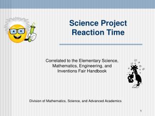 Science Project Reaction Time