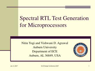 Spectral RTL Test Generation for Microprocessors