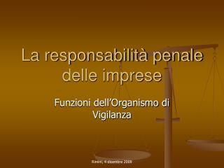La responsabilità penale delle imprese