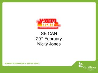 SE CAN 29 th  February Nicky Jones