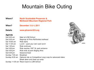 Mountain Bike Outing