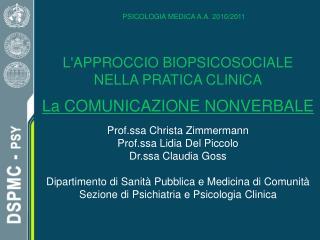 PSICOLOGIA MEDICA A.A. 2010/2011