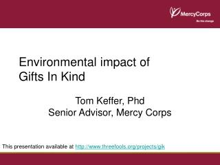 Environmental impact of Gifts In Kind