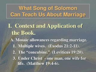 What Song of Solomon  Can Teach Us About Marriage