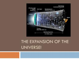 The Expansion of the Universe!