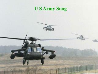 U S Army Song