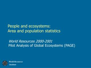People and ecosystems: Area and population statistics
