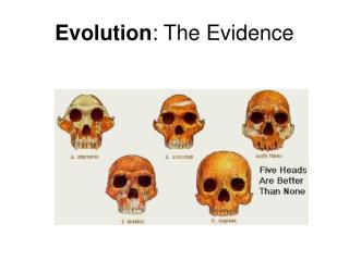 Evolution : The Evidence