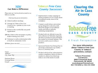 Tobacco  Free Cass County Successes