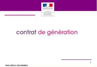 Le contrat de g�n�ration  issu d�un accord unanime des partenaires sociaux